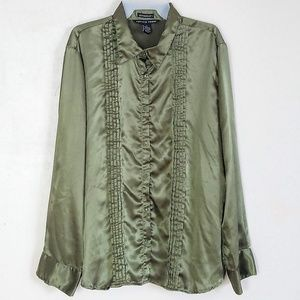 Antilia Femme Women's Blouse Plus size 3X Green